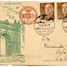 Sellos: EXPO. FILATÉLICA. XIV FERIA MUESTRARIO INTERNACIONAL DE BARCELONA. 1956. MATASELLOS ESPECIAL. Lote 166422354