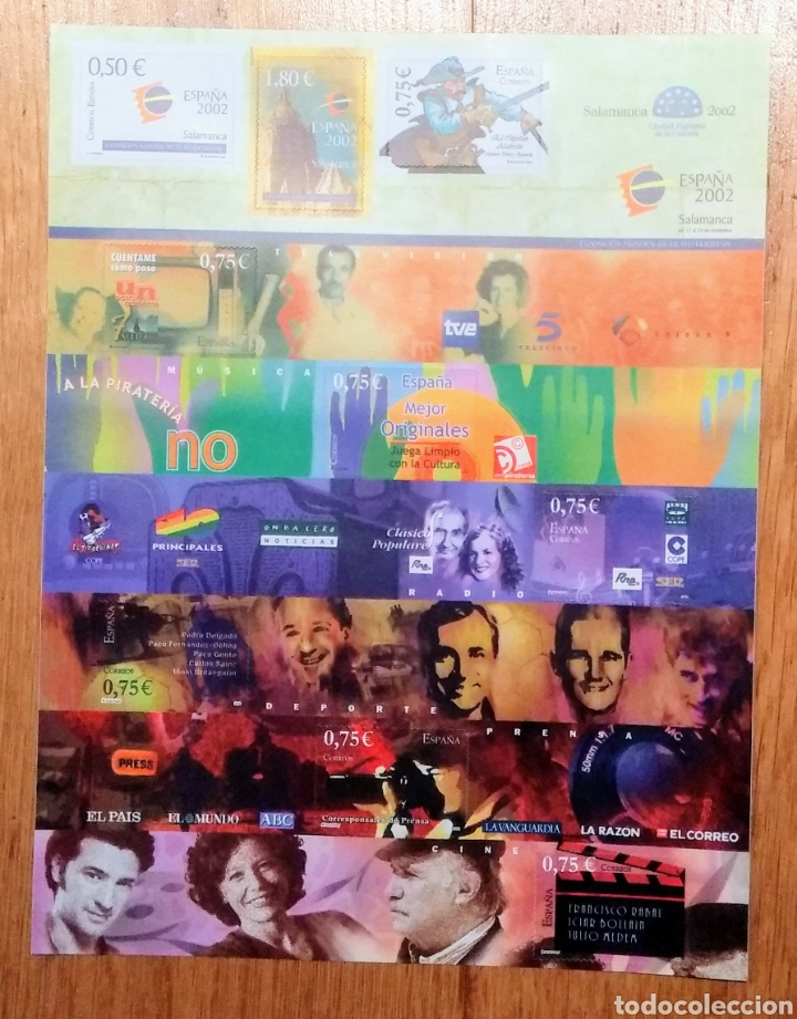 2002. EXPOS. MUNDIAL FILA. JUVENIL. 9 VALORES. (Sellos - España - Juan Carlos I - Desde 2.000 - Nuevos)
