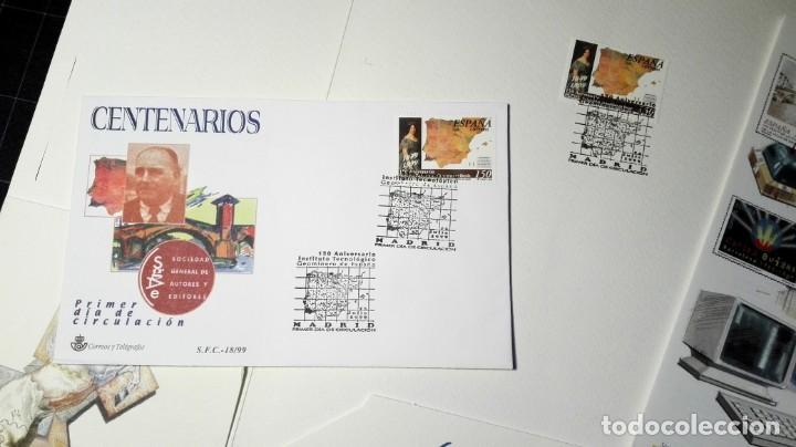 Sellos: 150 ANIVERSARIO INSTITUTO GEOLÓGICO 1999 . CARPETA CON VARIOS DOCS FILATELIA.GEOLOGÍA, MINERIA, - Foto 2 - 166441654