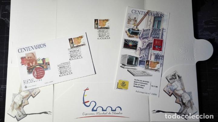 Sellos: 150 ANIVERSARIO INSTITUTO GEOLÓGICO 1999 . CARPETA CON VARIOS DOCS FILATELIA.GEOLOGÍA, MINERIA, - Foto 4 - 166441654