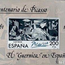 Sellos: EL GUERNICA EN ESPAÑA. HOJA-BLOQUE, EDIFIL 2631. 1981. Lote 195062745