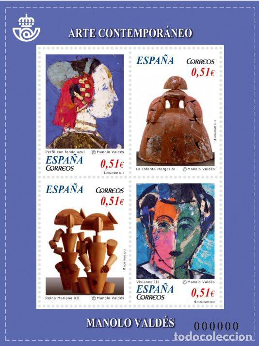 AÑO 2012 (4739) HB ARTE CONTEMPORANEO (NUEVO) (Sellos - España - Juan Carlos I - Desde 2.000 - Nuevos)