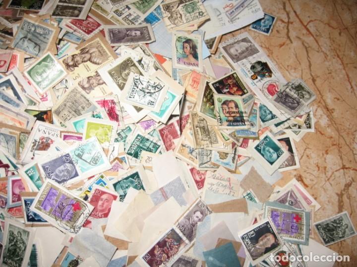 Sellos: CINCO MIL SELLOS DE ESPAÑA MATA-SELLADOS - Foto 4 - 167561464