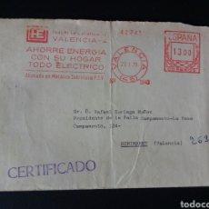 Sellos: CARTA FRANQUEO MECANICO. HIDROELECTRICA ESPAÑOLA. 1979. VALENCIA.. Lote 167780716