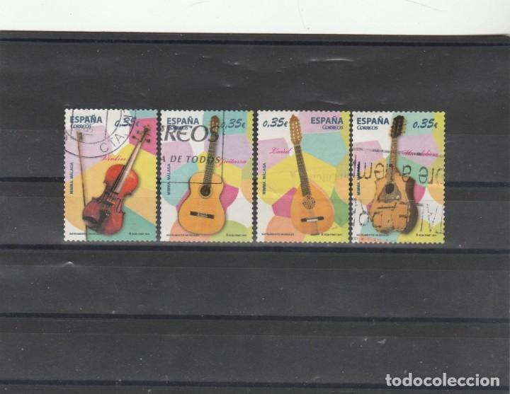 ESPAÑA 2011 - EDIFIL NROS. 4628-31 - INSTRUMENTOS MUSICALES - USADOS (Sellos - España - Juan Carlos I - Desde 2.000 - Usados)