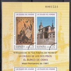 Sellos: ESPAÑA, 1997 EDIFIL Nº 3494 /**/, ARCO DE CIRCUNFERENCIA IMPRESO EN EL ANGULO, *MUESTRA*. Lote 168004560