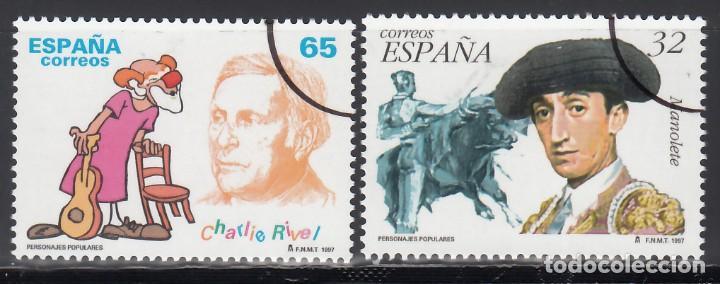 ESPAÑA, 1997 EDIFIL Nº 3488 / 3489 /**/, ARCO DE CIRCUNFERENCIA IMPRESO EN EL ANGULO, *MUESTRA* (Sellos - España - Juan Carlos I - Desde 1.986 a 1.999 - Nuevos)