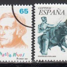 Sellos: ESPAÑA, 1997 EDIFIL Nº 3488 / 3489 /**/, ARCO DE CIRCUNFERENCIA IMPRESO EN EL ANGULO, *MUESTRA*. Lote 168004640