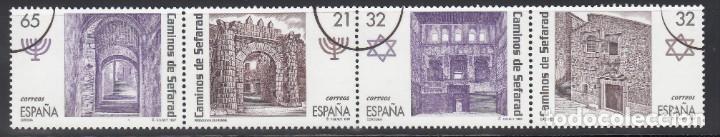 ESPAÑA, 1997 EDIFIL Nº 3520 / 3523 /**/, ARCO DE CIRCUNFERENCIA IMPRESO EN EL ANGULO, *MUESTRA* (Sellos - España - Juan Carlos I - Desde 1.986 a 1.999 - Nuevos)