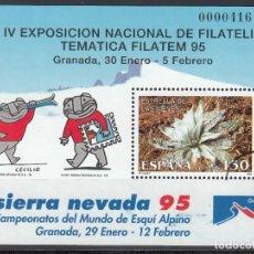 Sellos: ESPAÑA, 1995 EDIFIL Nº 3340 /**/, ARCO DE CIRCUNFERENCIA IMPRESO EN EL ANGULO, *MUESTRA*. Lote 168004808