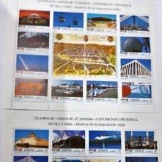 Sellos: HOJITAS MINIPLIEGOS EXPO SEVILLA 1992 . Lote 168005000