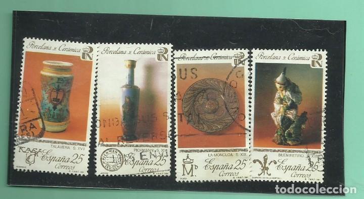 SELLOS USADOS 1991. PATRIMONIO ARÍISTICO NACIONAL. PORCELANA (Sellos - España - Juan Carlos I - Desde 1.986 a 1.999 - Usados)