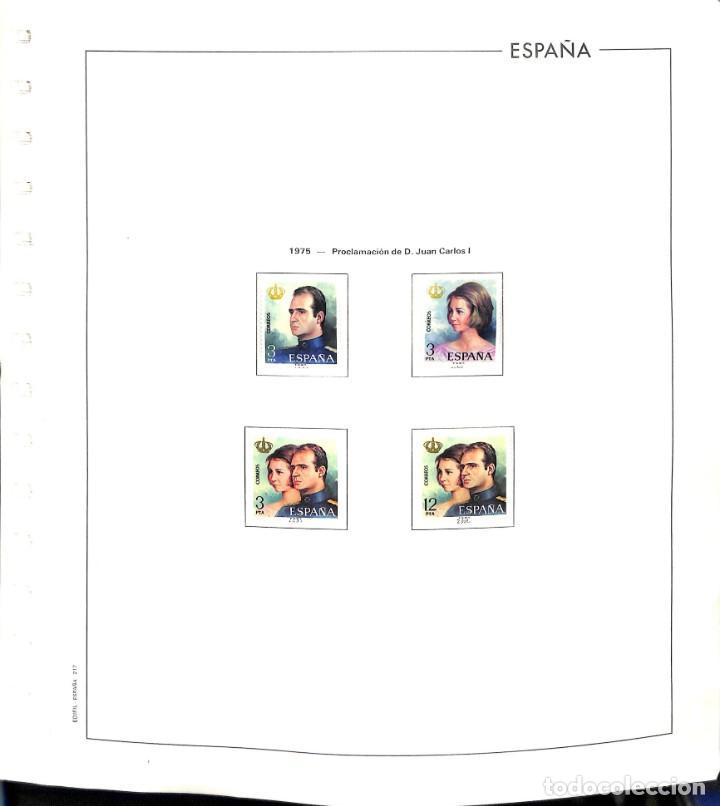 ESPAÑA, 1975 - 1988 COLECCIÓN COMPLETA DE SELLOS Y HOJAS BLOQUE, NUEVOS SIN SEÑAL DE FIJASELLOS. (Sellos - España - Juan Carlos I - Desde 1.975 a 1.985 - Nuevos)