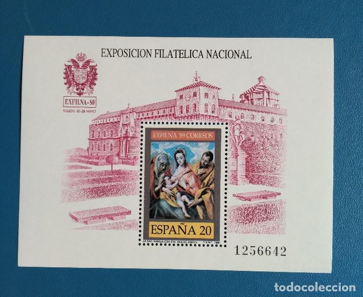 SELLO ESPAÑA 1989 - EXFILNA 89 TOLEDO - NUEVO - EDIFIL 3011 (Sellos - España - Juan Carlos I - Desde 1.986 a 1.999 - Nuevos)