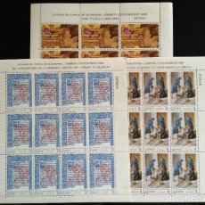 Sellos: SELLOS ESPAÑA 1990 - 3 MINIPLIEGOS SERIE CENTENARIOS - MISMA NUMERACION - 3069 3070 3072. Lote 168825044