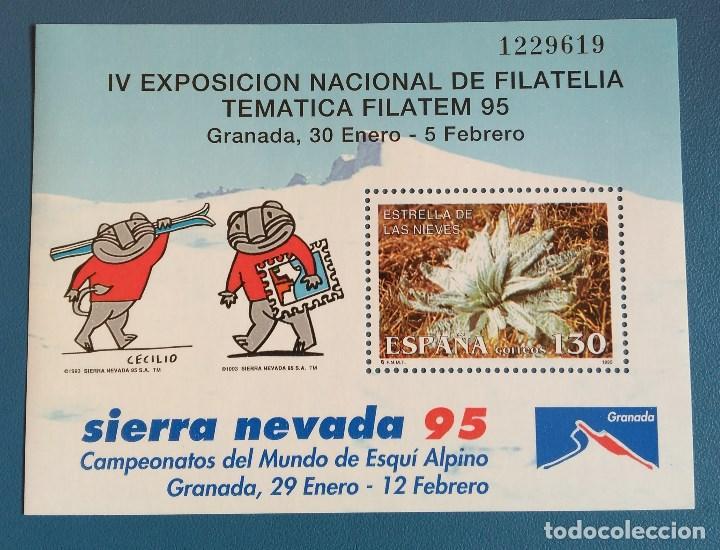 SELLO ESPAÑA 1995 - SIERRA NEVADA - FILATEM 95 - NUEVO - EDIFIL 3339 (Sellos - España - Juan Carlos I - Desde 1.986 a 1.999 - Nuevos)