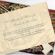 Sellos: 125 ANIVERSARIO GRAN TEATRO DEL LICEO (1972) - INVITACIÓN DEL MINISTRO DE HACIENDA Y DEL ALCALDE DE . Lote 168939604