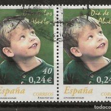 Sellos: R61/ ESPAÑA USADOS 2001, EDIFIL 3811, ACTIVIDADES SOCIALES. Lote 169121212