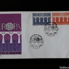 Sellos: ESPAÑA. EDIFIL 2756/7. SERIE COMPLETA. SOBRE DE PRIMER DÍA. EUROPA CEPT PUENTES. 1984. Lote 169149257