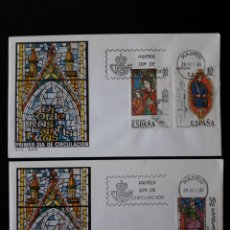 Sellos: ESPAÑA. EDIFIL 2721/3. SERIE COMPLETA. SOBRE DE PRIMER DÍA. VIDRIERAS. 1983. Lote 169149402