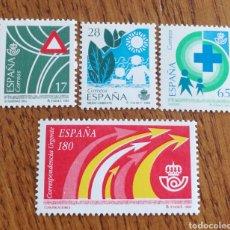 Sellos: ESPAÑA : N°3237/40 MNH, SERVICIOS PÚBLICOS 1993.. Lote 192217737
