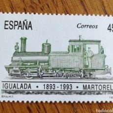 Selos: ESPAÑA : N°3265 FERROCARRILES IGUALADA-MARTORELL 1993. Lote 169284590