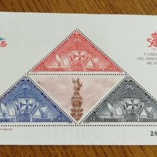 Selos: ESPAÑA : N°HB 3163 MNH, DESCUBRIMIENTO DE AMÉRICA. 1992. Lote 208851850