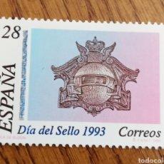 Sellos: ESPAÑA : N°3243 MNH, DÍA DEL SELLO 1993. Lote 294371723