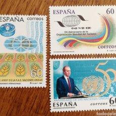 Sellos: ESPAÑA : N°3382/84 MNH, ORGANISMOS INTERNACIONALES 1995. Lote 237928625