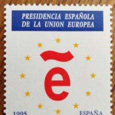Sellos: ESPAÑA : N3385 MNH, PRESIDENCIA ESPAÑOLA DE LA UNIÓN EUROPEA 1995. Lote 237928320