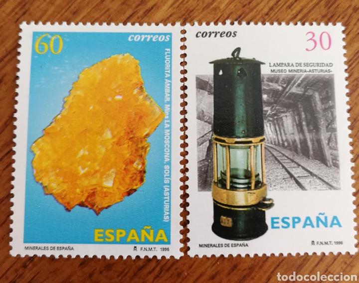 ESPAÑA : N°3408/09 MINERALES 1996 (Sellos - España - Juan Carlos I - Desde 1.986 a 1.999 - Nuevos)