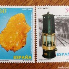 Sellos: ESPAÑA : N°3408/09 MINERALES 1996. Lote 204604860