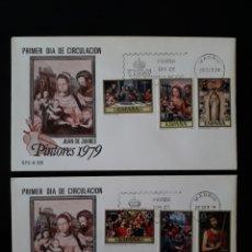 Sellos: ESPAÑA. EDIFIL 2537/42 SERIE COMPLETA. SOBRE DE PRIMER DÍA. PINTURAS. JUAN DE JUANES. 1979.. Lote 169333385
