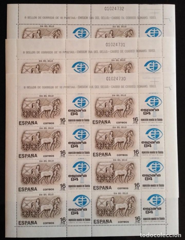 SELLOS 1983 - DIA DEL SELLO - 3 MINIPLIEGOS NUMEROS CONSECUTIVOS - 2719 (Sellos - España - Juan Carlos I - Desde 1.975 a 1.985 - Nuevos)