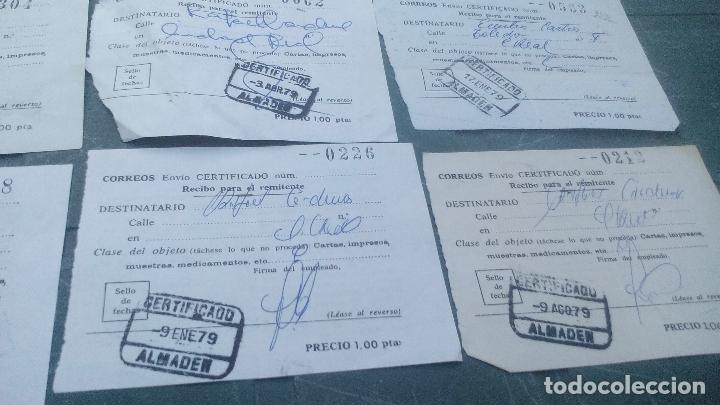 Sellos: 11 RESGUARDOS DE RECOGIDA DE CORREO CERTIFICADO- 1978, 1979 - LOTE - Foto 3 - 169444548