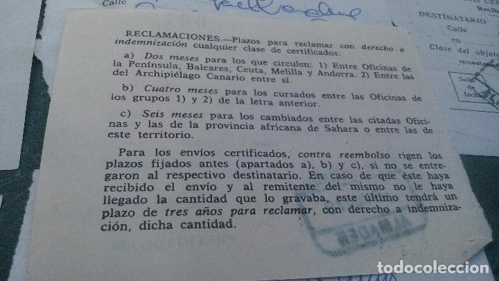 Sellos: 11 RESGUARDOS DE RECOGIDA DE CORREO CERTIFICADO- 1978, 1979 - LOTE - Foto 5 - 169444548