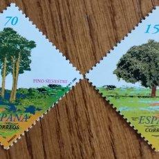 Sellos: ESPAÑA :N°3717/18 MNH, ÁRBOLES, 2000. Lote 205526285