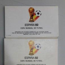 Sellos: ESPAÑA. COLECCIÓN MUNDIAL DE FUTBOL ESPAÑA 82 CON 80 SOBRES MATASELLOS ESPECIALES.. Lote 169536068