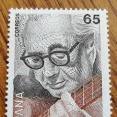 Sellos: ESPAÑA : N°3242 MNH, ANDRÉS SEGOVIA 1993. Lote 214247717