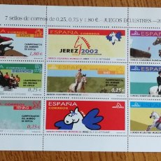 Sellos: ESPAÑA : N°MP 70 MNH, JUEGOS ECUESTRES MUNDIALES, 2002. Lote 184006428