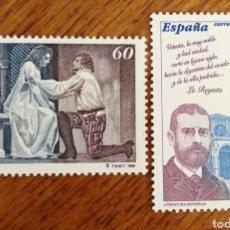 Sellos: ESPAÑA :N°3456/57 MNH, LITERATURA ESPAÑOLA. Lote 207216156