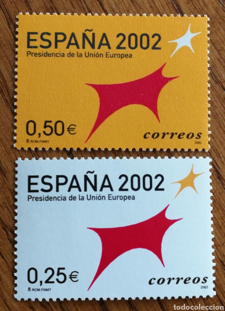ESPAÑA : N°3865/66 MNH, PRESIDENCIA DE LA UNIÓN EUROPEA 2002 (Sellos - España - Juan Carlos I - Desde 2.000 - Cartas)