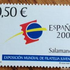 Sellos: ESPAÑA :N°3877 MNH, EXPOSICIÓN MUNDIAL DE FILATELIA JUVENIL 2002. Lote 180345271