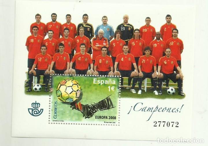HB 2008. CAMPEONES. SELLO DE 1 EURO FRANQUEO O COLECCIONISMO (Sellos - España - Juan Carlos I - Desde 2.000 - Nuevos)