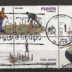 Timbres: R61/ ESPAÑA USADOS 2008, EDIFIL 4421, JUEGOS Y DEPORTES TRADICIONALES. Lote 170084956