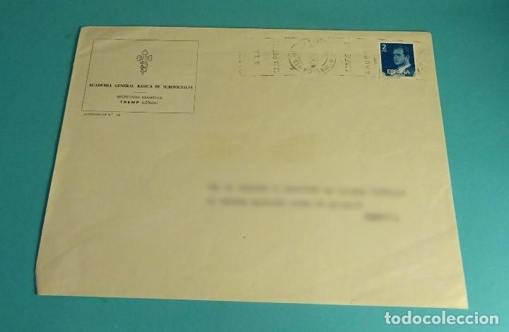 CARTA ORIGEN CAMTO. MILITAR GRAL. M. ALONSO. MATASELLO CONFIE SUS AHORROS A LA CAJA POSTAL (Sellos - España - Juan Carlos I - Desde 1.975 a 1.985 - Cartas)