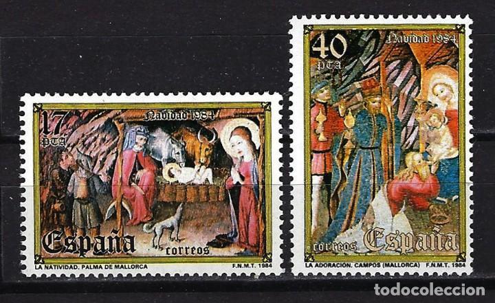 1984 ESPAÑA EDIFIL 2776/2777 - NAVIDAD - MNH** NUEVO SIN FIJASELLOS SERIE COMPLETA (Sellos - España - Juan Carlos I - Desde 1.975 a 1.985 - Nuevos)