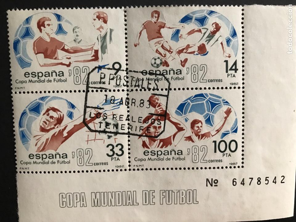 SELLOS MUNDIAL ESPAÑA 82 CON MATASELLOS DE LOS REALES TENERIFE (Sellos - España - Juan Carlos I - Desde 1.975 a 1.985 - Usados)