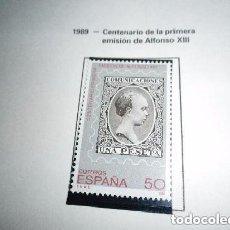 Sellos: ESPAÑA EDIFIL 3024*** - AÑO 1989 - CENTENARIO DE LA PRIMERA EMISION DE ALFONSO XIII . Lote 170659140