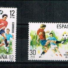 Sellos: ESPAÑA 1981 - EDIFIL 2613/14** - COPA MUNDIAL DE FÚTBOL, ESPAÑA'82. Lote 170890460